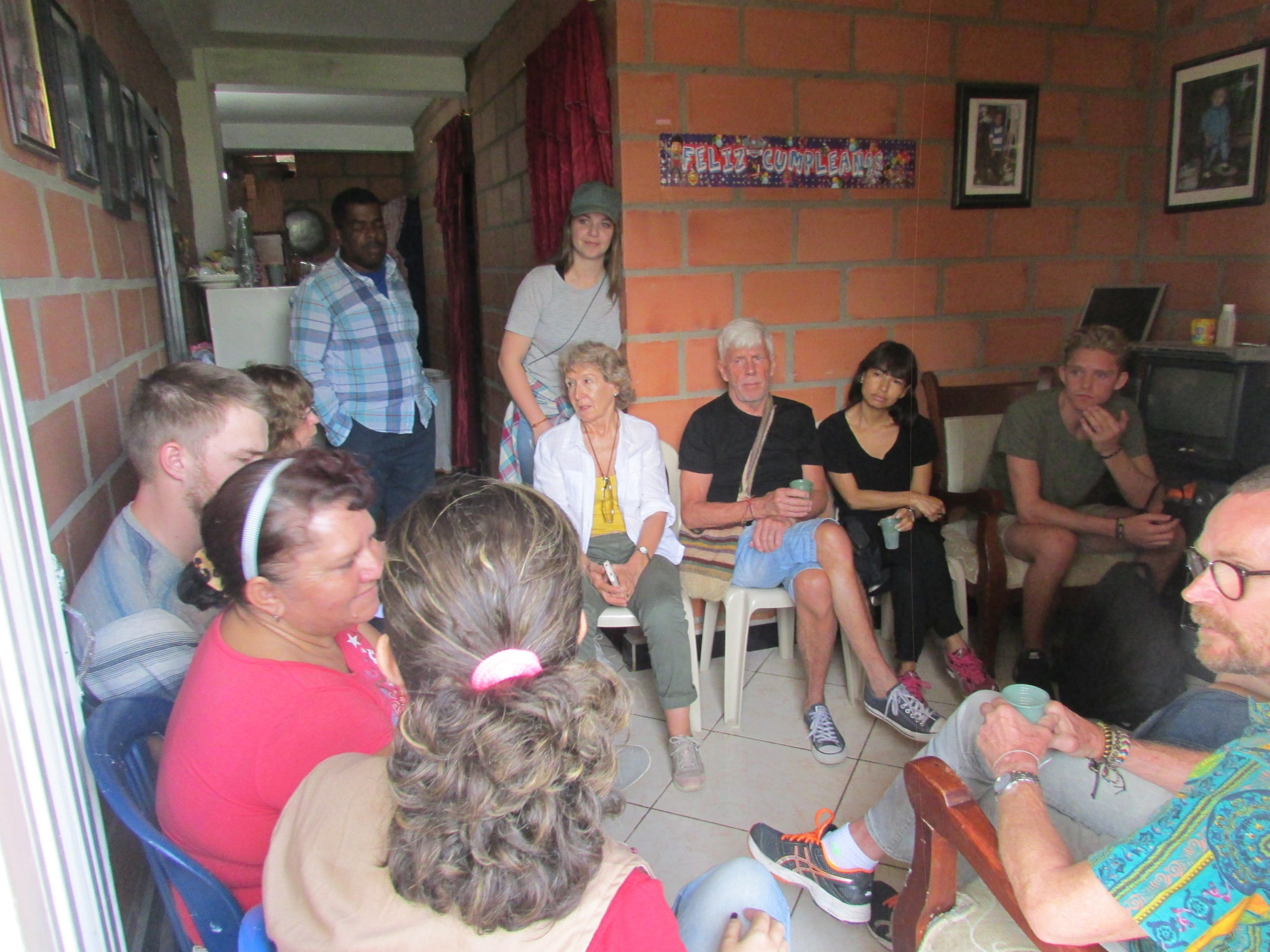 Visita domiciliaria a microempresaria